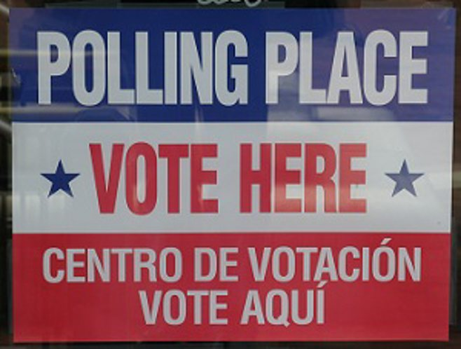 polling place vote sign