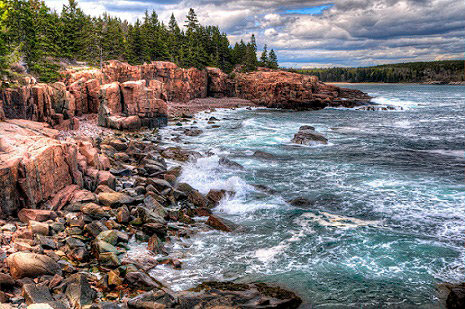 rocky beaches acadia national park