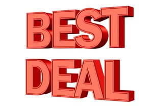 best deal big text