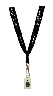 Medical Alert Necklace – Black Ice Ribbon