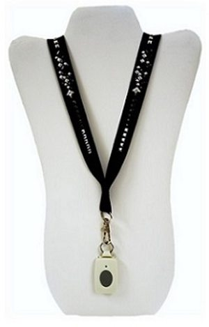 black ribbon necklace