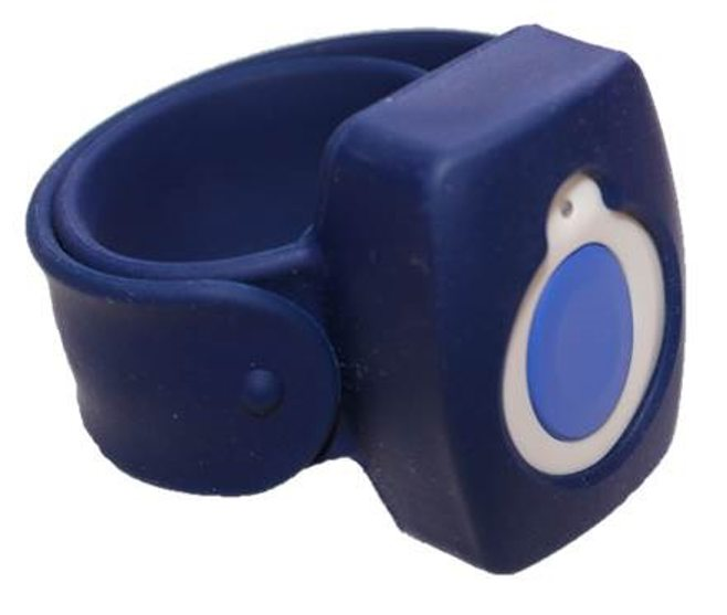 blue slapband with help button