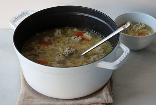 St. Patty's Day Cabbage and Meatball Soup