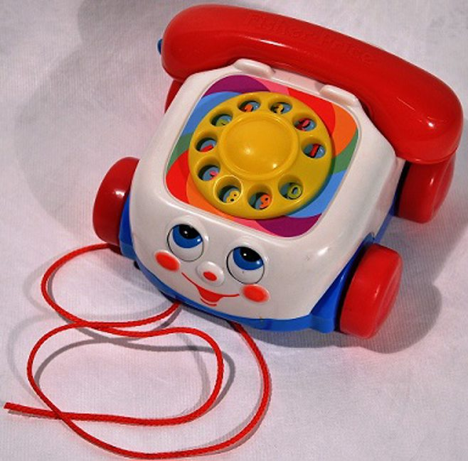 Modernized Chatter Phone toy.