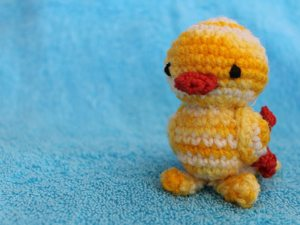 yellow crochet duckling