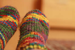 multi-color crochet socks