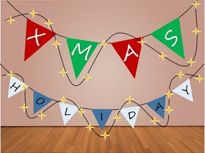 Diy holiday decorations diy 1 flag banner solutioingenieria Image collections