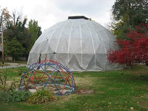 DIY geodesic greenhouse