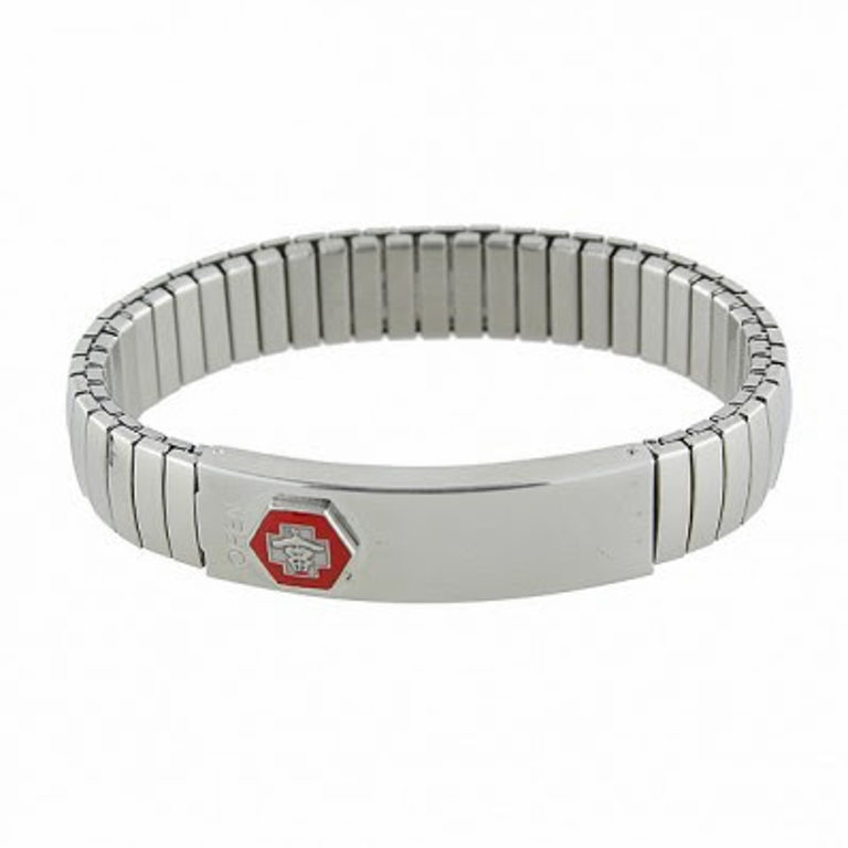 Large Stretch Band Medical ID Bracelet