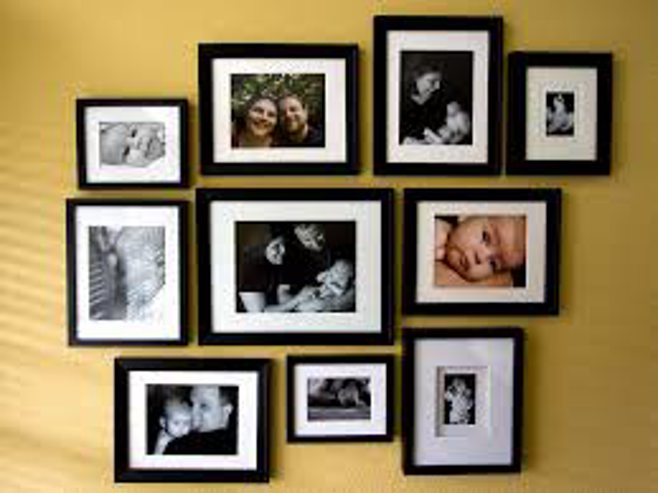 framed pictures on wall