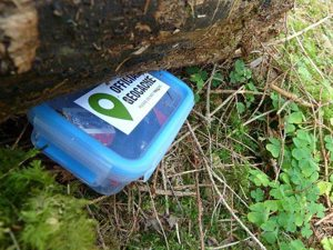 offical geocache box under log