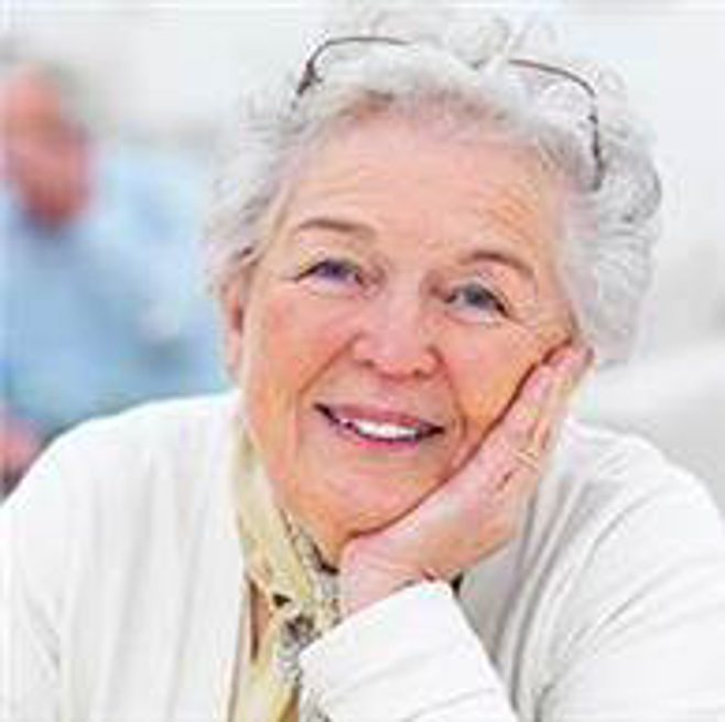 Grandma smiling. alert1 medical alert systems