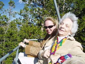 Grandma on Ferris Wheel