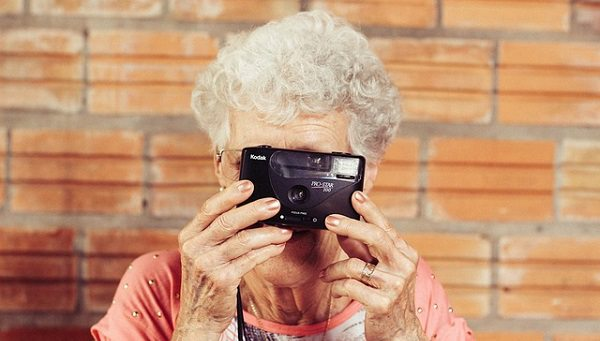 Grandma with camera.alert1 medical alert systems