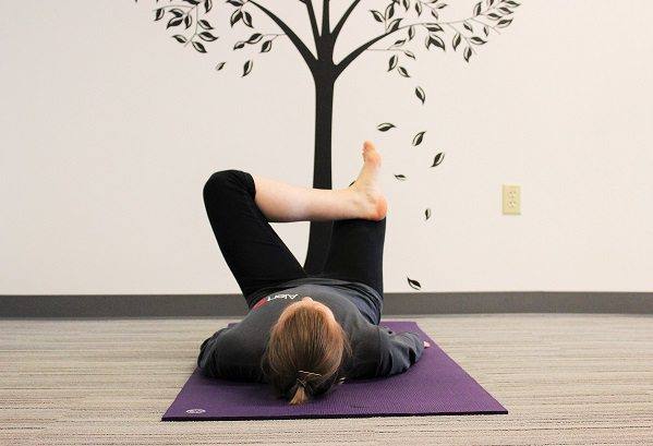 figure 4 yoga pose