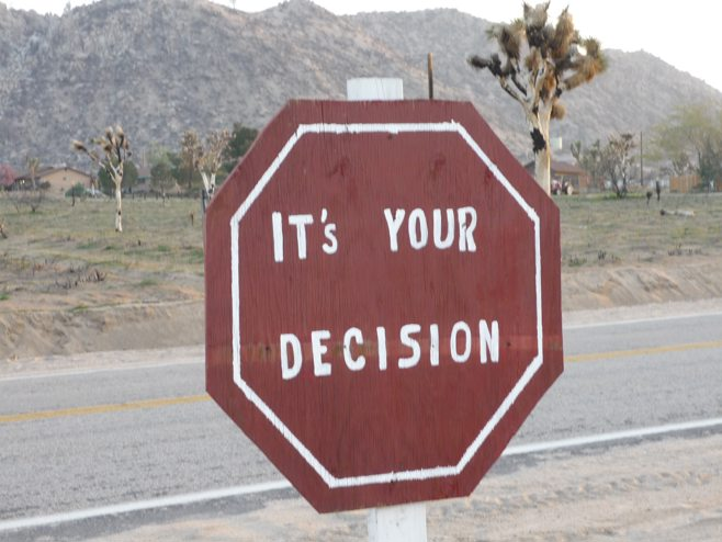 stop sign decision