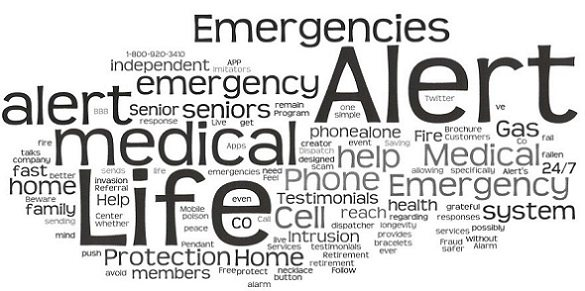 Life Alert word cloud