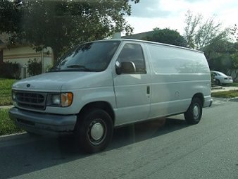 A suspicious looking white van