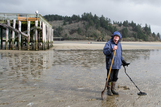 metal detecting on shore