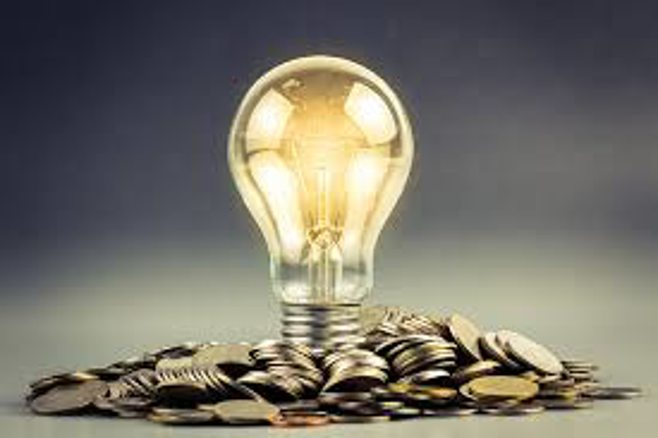 light bulb and coins