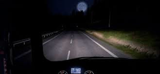 drivers veiw driving at night