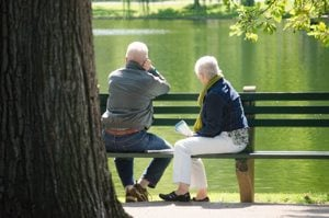 old couples watching a lake. alert1 medical alert systems