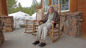 grandma on porch