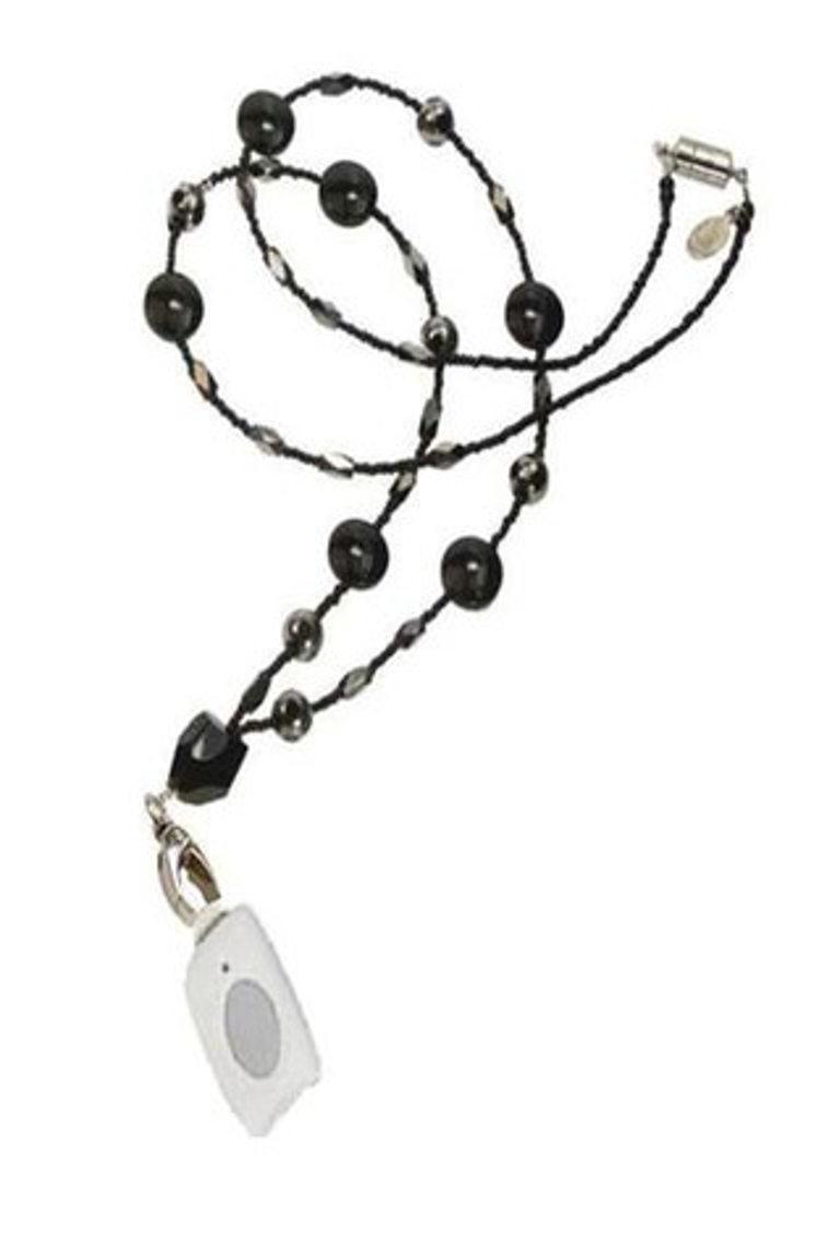 Medical Alert Necklace - Elegant Onyx