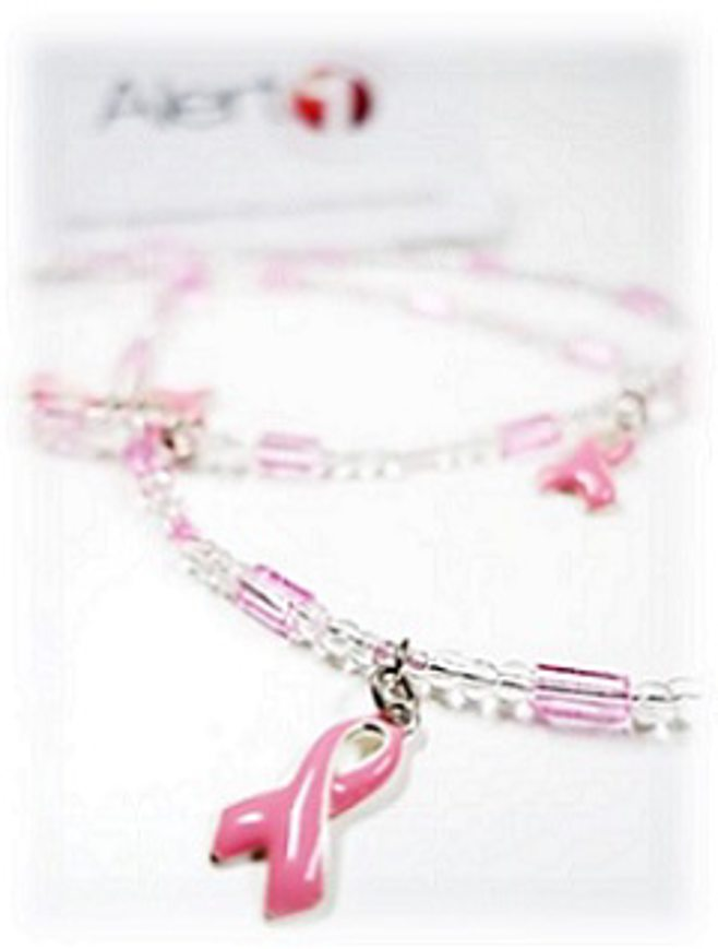 pink ribbon necklace