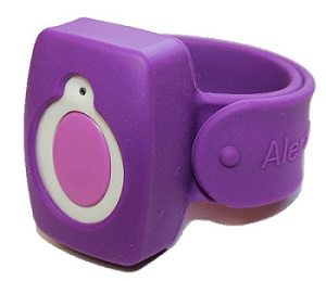 purple alert1 wristband