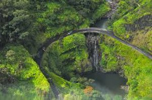 ariel view of road to hana