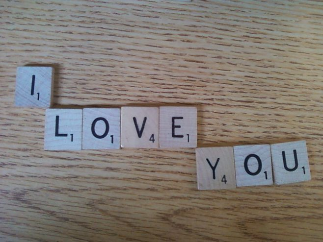 I love you scrabble letters