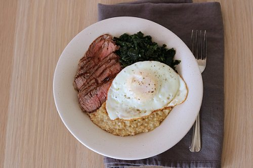 Steak and eggs oatmeal.alert1 medical alert systems