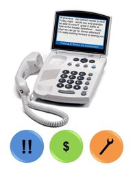 Captioned telephone by Captel