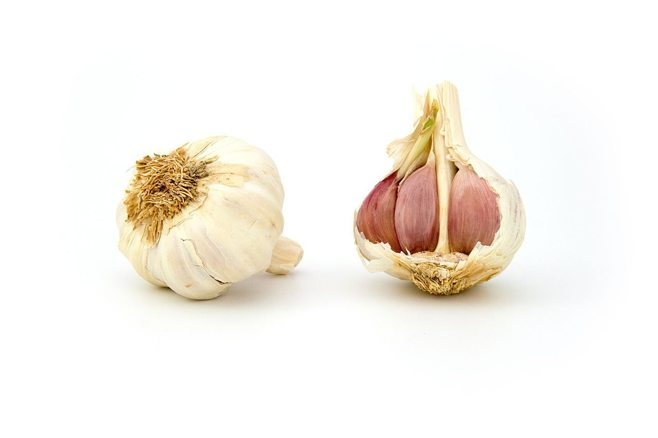two pieces of garlic