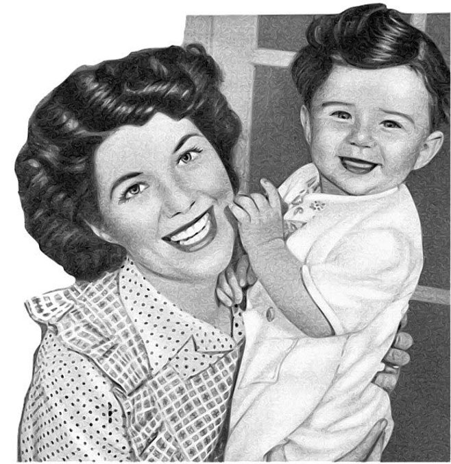 smiling woman with baby.alert1