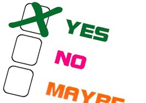 Check-box with 'yes' selected